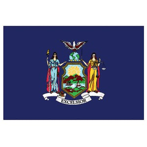 Custom Printed New York State Flags