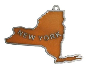 Custom Printed New York State Shaped Ornaments