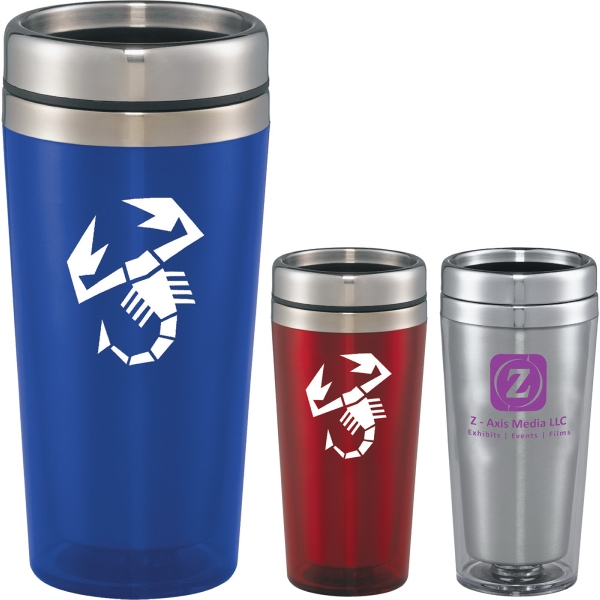 Custom Printed 1 Day Service Transparent Shell Travel Mugs