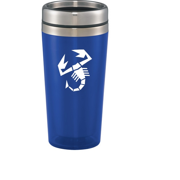 1 Day Service Transparent Shell Travel Mugs, Personalized With Your Logo!