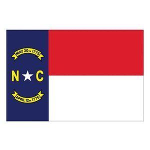 Custom Printed North Carolina State Flags