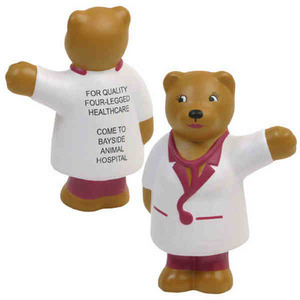Custom Printed Nurse Bear Keychains