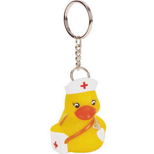 Custom Printed Nurse Rubber Duck Keychains