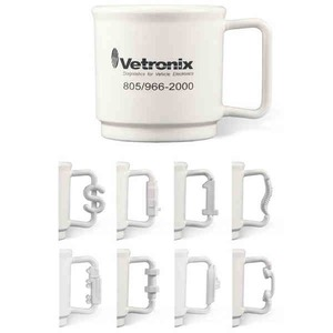 Custom Printed Nut and Bolt Handle Stackable Mugs