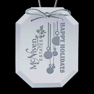Custom Imprinted Octagon Shaped Christmas Ornaments