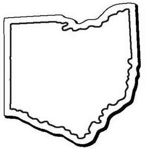 Custom Printed Ohio Shaped Magnets