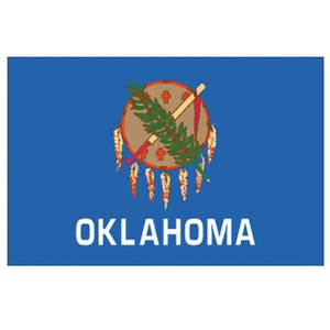 Custom Printed Oklahoma State Flags