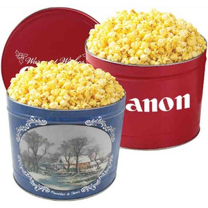 Custom Printed Old Fashioned Popcorn Tins