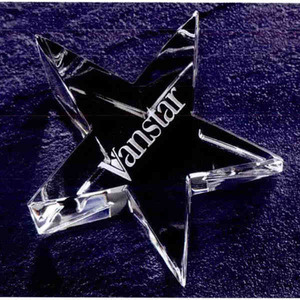 Custom Printed Optic Star Paperweight Crystal Gifts