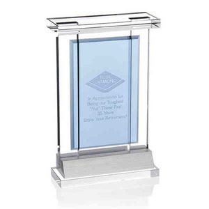 Custom Printed Optical Crystal Achievement Awards
