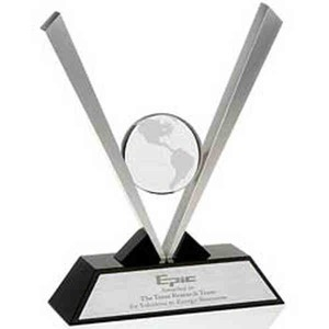 Custom Printed Optical Crystal Globe Awards