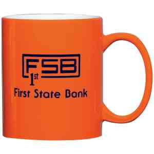 Custom Imprinted Orange Color Mugs