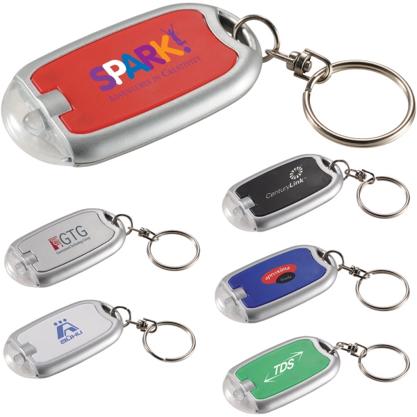 1 Day Service Clear Dome Key Lights, Custom Imprinted With Your Logo!