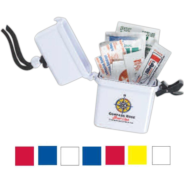 3 Day Service Outdoor Survival Kit Filled Waterproof Containers, Custom Imprinted With Your Logo!