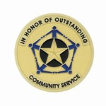 Custom Engraved Outstanding Community Service Emblems and Seals