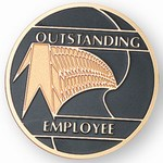 Custom Engraved Outstanding Employee Emblems and Seals