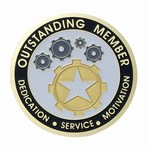 Custom Engraved Outstanding Fundraiser Emblems and Seals