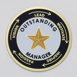 Custom Engraved Outstanding Manager Emblems and Seals