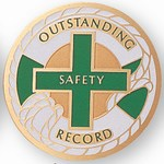 Custom Engraved Outstanding Safety Record Emblems and Seals