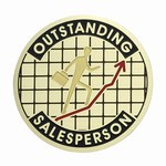 Custom Engraved Outstanding Sales Person Emblems and Seals