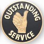 Custom Engraved Outstanding Service Emblems and Seals