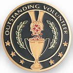 Custom Engraved Outstanding Volunteer Emblems and Seals