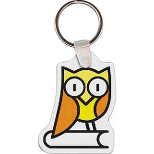 Custom Printed Owl Bird Shaped Keytags