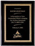 Custom Engraved Black Finish Plaques