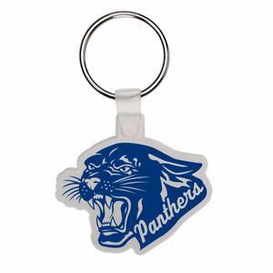 Custom Printed Panther Mascot Keytags