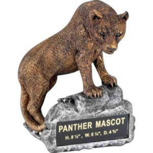 Custom Printed Panther Mascot Resin Sculptures