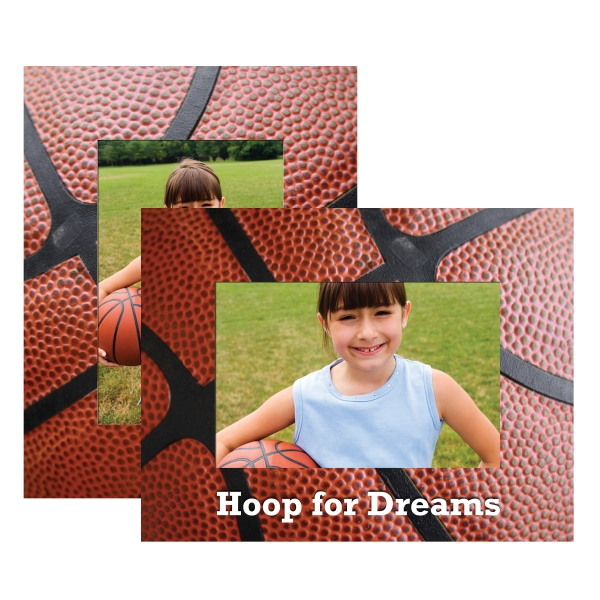 Basketball Paper Picture Frames, Personalized With Your Logo!