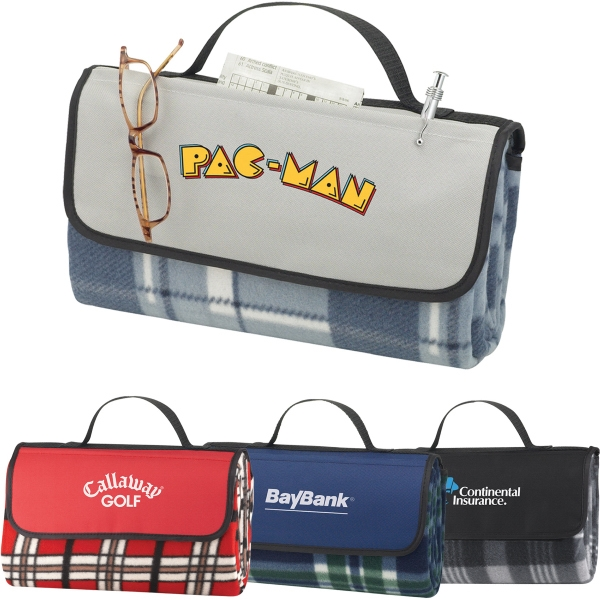 Custom Printed 1 Day Service Plaid Park Picnic Blankets
