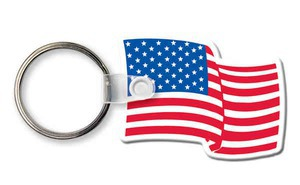 Custom Printed Patriotic Flag Key Rings