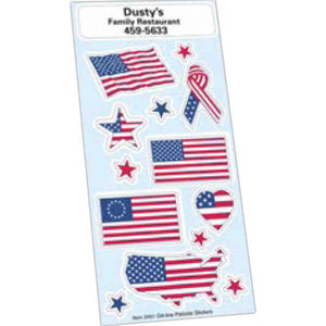 Patriotic Political Election Campaign Sticker Sheets, Customized With Your Logo!