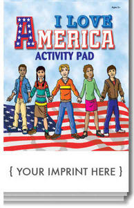 Custom Printed Patriotic Themed Activity Pads