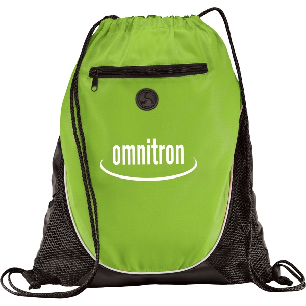 1 Day Service Air Mesh Drawstring Backpacks, Custom Imprinted With Your Logo!