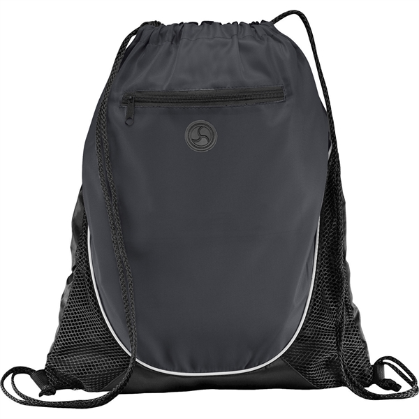1 Day Service Air Mesh and Microfiber Drawstring Backpacks, Personalized With Your Logo!