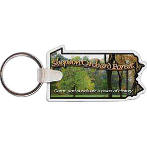 Custom Printed Pennsylvania State Shaped Key Tags