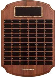 Custom Printed Genuine Walnut Perpetual Plaque Gold Frame