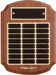 Custom Printed Genuine Walnut Perpetual Plaques With Gold Backing