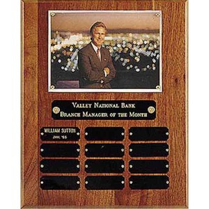 Custom Printed Genuine Walnut Perpetual Plaque With Photo
