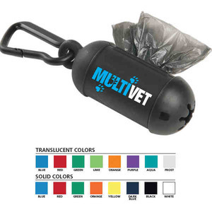 Custom Printed Pet Waste Bag Dispensers with Carabiners