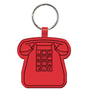 Custom Printed Phone Shaped Key Tags