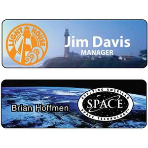 Photo Quality Magnetic Pin Name Badges, Custom Made With Your Logo!