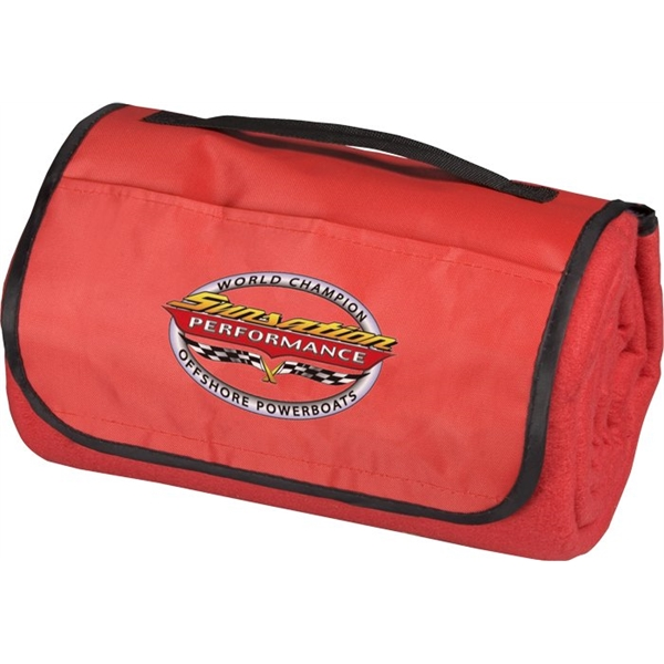 Custom Printed Canadian Manufactured Solid Picnic Blankets
