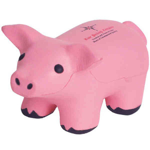 Custom Imprinted Pig Stress Relievers