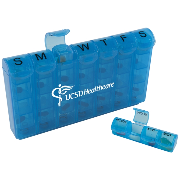 Compartment Med Minder Pill Boxes, Custom Imprinted With Your Logo!