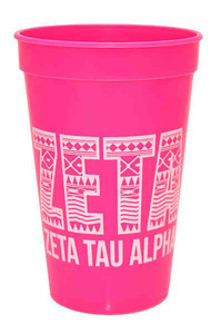Custom Imprinted Pink Color Stadium Cups