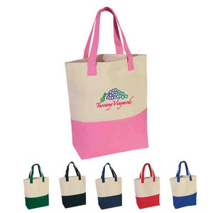 Custom Imprinted Pink Color Tote Bags