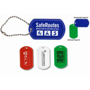 Custom Imprinted Plastic Dog Tags